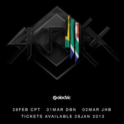 Skrillex Will Play In Joburg, Cape Town And Durban Next Year