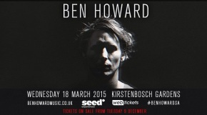 Ben Howard Will Tour SA In2015
